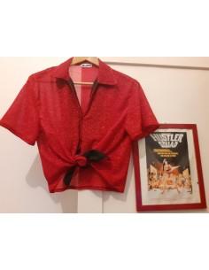 Camisa Lurex Rojo